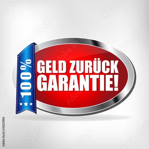 Geld zurück Garantie! Button, Icon