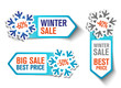 Winter Sale Stickers - Snowflakes