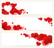 3 Banner Heart Red