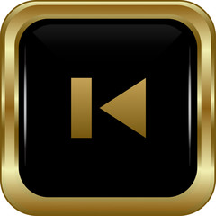 Black gold skip button.