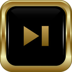 Black gold skip button.