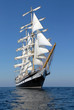 Sailing ship.  series of ships and yachts