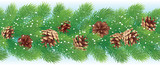 Christmas horizontal seamless background