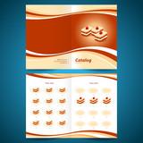 catalog booklet brochure folder cakes dessert pastry confection poster