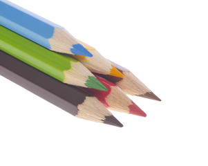 pyramid of colorful pencils