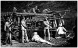 Tunnel digging Machine - 19th century