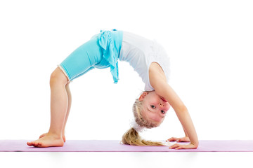 child girl doing gymnastics