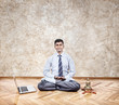 Business yoga meditation