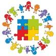 Children in Aktion ~ Kinder ~ Kids - Puzzle V2