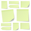 Collection Green Stick Notes