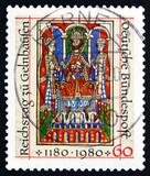 Postage stamp Germany 1980 Emperor Frederick I Barbarossa poster