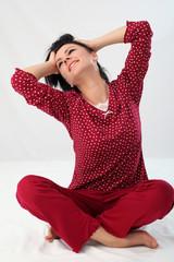 Ragazza in pigiama