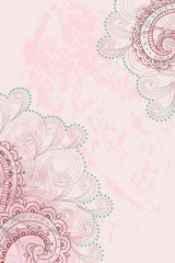 pink background with a pattern
