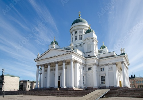 Helsinki Cathedral in Finland in summer