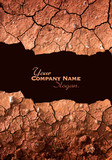 Dry cracked earth texture slogan