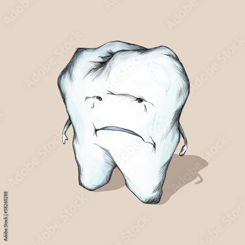 Unglücklicher Zahn