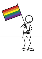 Stick figure gay flag