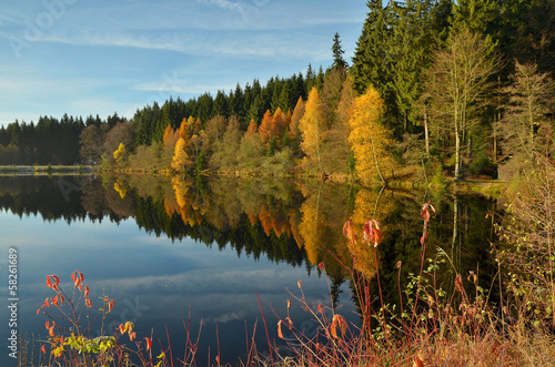 canvas print picture Fichtelsee
