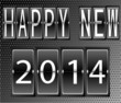 happy New Year 2014 Set of letters and numbers on a mechanical