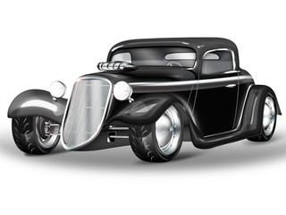 American Hot Rod schwarz