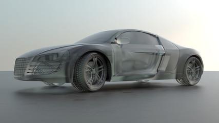 Ein Wagen aus Eis