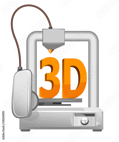 Modern Home 3d printer on a white background