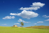 Cloudscape On Rural Landscape