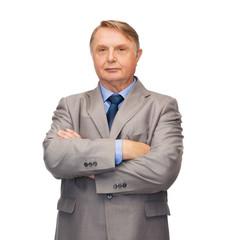 serious businessman or teacher in suit