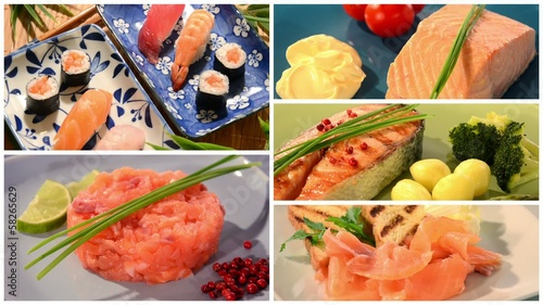 salmon recipes collage
