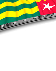 Designelement Flagge Togo