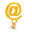 E-Mail Männchen goldfarben