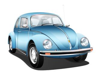 Deutsches Kultauto - Käfer blau
