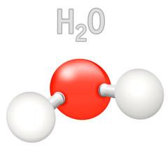 H2O Wasser Molekül