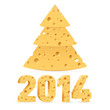 Cheese New Year symbols.