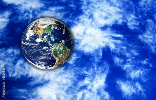 The Earth with sky in background