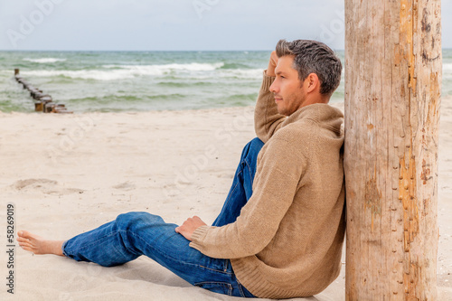 canvas print picture relaxing male