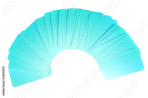 Business cards, isolated on white