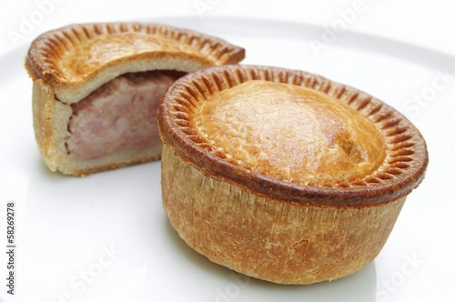 Traditional British pork pie