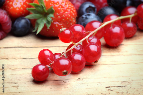 Mix of differrerent berrie