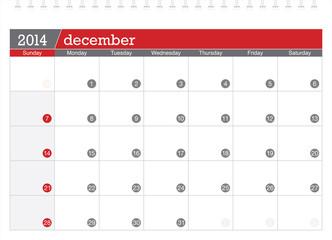 december 2014-planning calendar