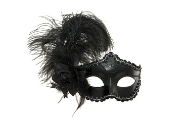 Black carnival or masquerade mask.