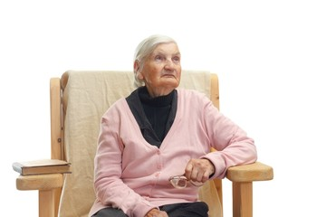 Lonely elderly woman