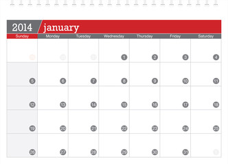 january 2014-planning calendar