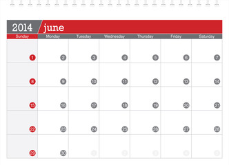 june 2014-planning calendar