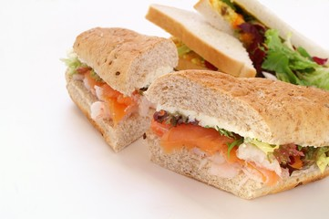 smoked salmon sub sandwich