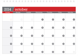 october 2014-planning calendar