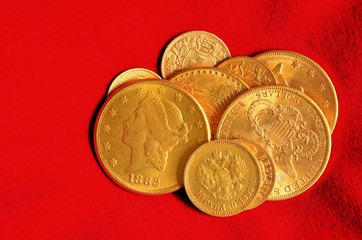 Golden coins collection