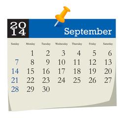 calendar 2014 september