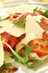 tomato and rocket salad with parmesan