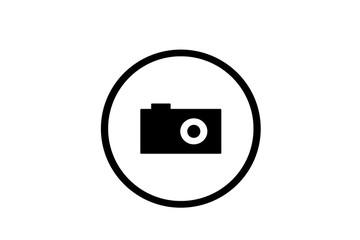 icona fotocamera in cerchio